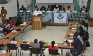 Picture of DG Sanginga delivering his remarks at the convergence.