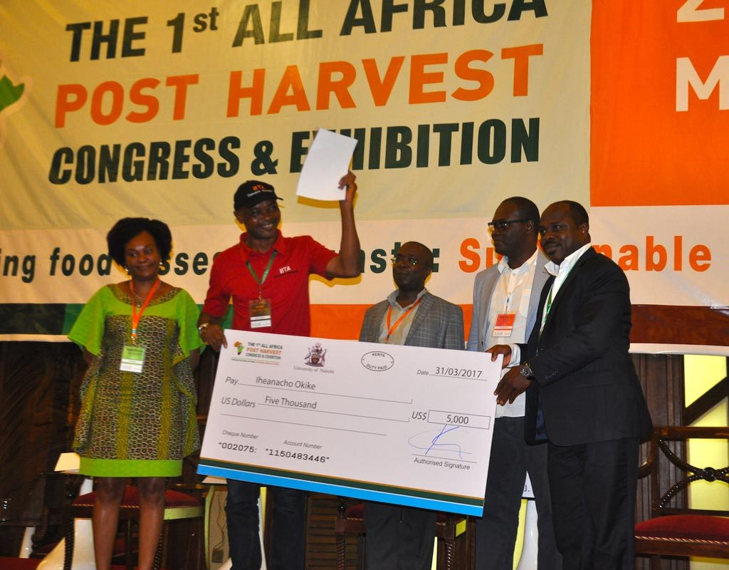 Picture of Iheanacho receives cheque for cassava peels for livestock feed technology