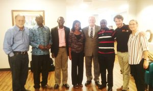 Picture of IITA staff visiting UF colleagues in Gainesville, Florida to discuss collaboration.