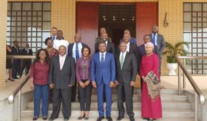 Picture of DG Nteranya Sanginga (front row, 2nd from left) with other delegates.