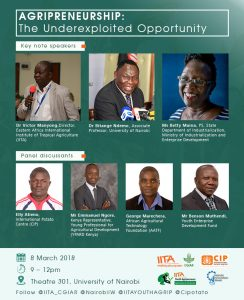Poster of Agripreneurship - The Underexploited Opportunity - speakers