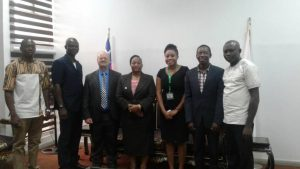 Picture of IITA staff with Betty Kibara (fourth from left) of the Rockefeller Foundation, one of the donor partners.