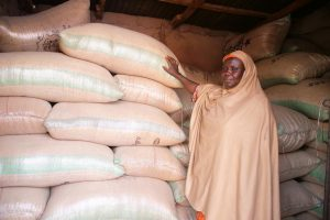 Picture of Maryam Muh'd at a soybean warehouse