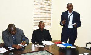 Picture of Head of IITA Abuja Station, Gbassey Tarawali, giving an overview of IITA