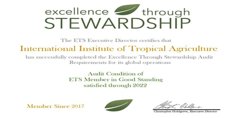 IITA's ETS certificate.