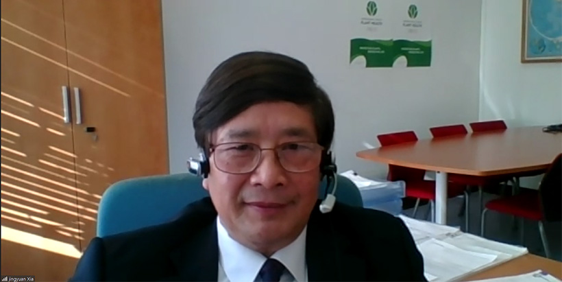 Dr Jingyuan Xia, FAO Director of Plant Production and Protection Division, Rome